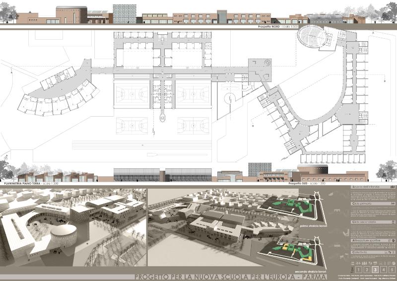 Nuova scuola per l 39 europa di parma riccarda cantarelli for Piano terra di 500 piedi quadrati